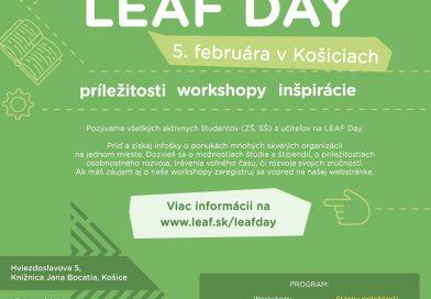 Stretnite sa s nami na Leaf Day v Košiciach